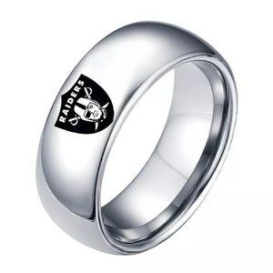 Silver Arc Oakland Raiders Ring